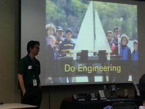 "Mr. Kam Kiam Leong conducting the ""Do Engineering"" talk."